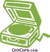 Vector Clipart illustration  of a record player