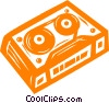 Vector Clip Art image  of a video tape
