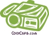 Vector Clip Art image  of a video camera