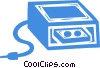 Vector Clip Art image  of a computer backup systems