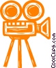 Vector Clip Art graphic  of a motion picture camera