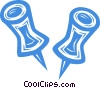 Vector Clipart picture  of a push pins