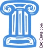 column/pedestal Vector Clipart graphic