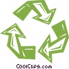 Vector Clipart illustration  of a recycle sign