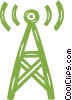 communications tower Vector Clipart image
