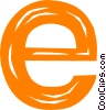 letter e Vector Clip Art graphic
