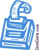 Vector Clipart image  of an adding machine
