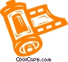 Vector Clip Art graphic  of a film roll