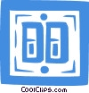 Vector Clipart image  of a light switches