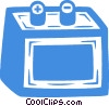 car battery Vector Clipart picture