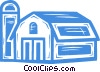 Vector Clipart graphic  of a farm/barn