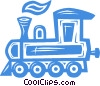 Vector Clipart illustration  of a train engine