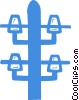 Vector Clip Art graphic  of a hydro pole
