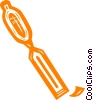 Vector Clip Art graphic  of a chisel