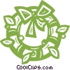 Vector Clip Art graphic  of a Christmas wreath