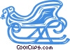 Vector Clip Art graphic  of a Santa's sleigh