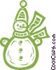 snowman Vector Clip Art graphic