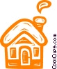Vector Clipart graphic  of a rural home