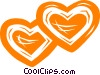 hearts/valentines day Vector Clipart image