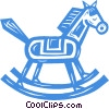 Vector Clipart image  of a rocking horse