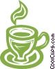 Vector Clip Art picture  of a cup of coffee