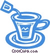 teacup Vector Clip Art graphic