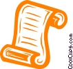 Vector Clipart graphic  of a scroll