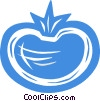 Vector Clipart picture  of a tomato