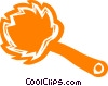 Vector Clipart illustration  of a feather duster