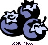 Vector Clip Art image  of a blueberries