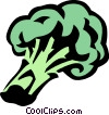 Vector Clip Art graphic  of a broccoli