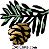 Vector Clipart graphic  of a conifer