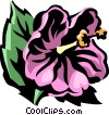 Vector Clipart illustration  of a hibiscus