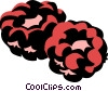 raspberries Vector Clipart illustration