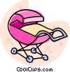 Vector Clipart illustration  of a baby stroller