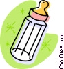 Vector Clip Art picture  of a baby bottle