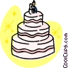 Wedding cakes Vector Clip Art graphic