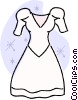Vector Clipart illustration  of a wedding dress