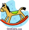 rocking horse Vector Clipart graphic