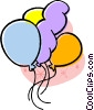 birthday balloons Vector Clipart illustration