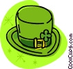 Vector Clip Art image  of a St. Patrick's Day top hat