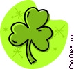 Vector Clipart graphic  of a St. Patrick's Day shamrock