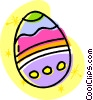 Vector Clip Art image  of a Easter egg