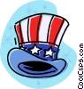 Vector Clip Art graphic  of a Uncle Sam's top hat