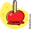 Vector Clip Art image  of a candy apple