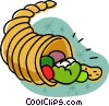 Vector Clipart illustration  of a cornucopia