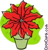 Christmas poinsettia Vector Clip Art graphic