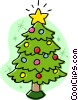 Vector Clip Art picture  of a Christmas tree