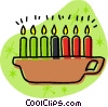 Vector Clipart graphic  of a candles