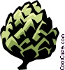 Vector Clip Art graphic  of an artichoke